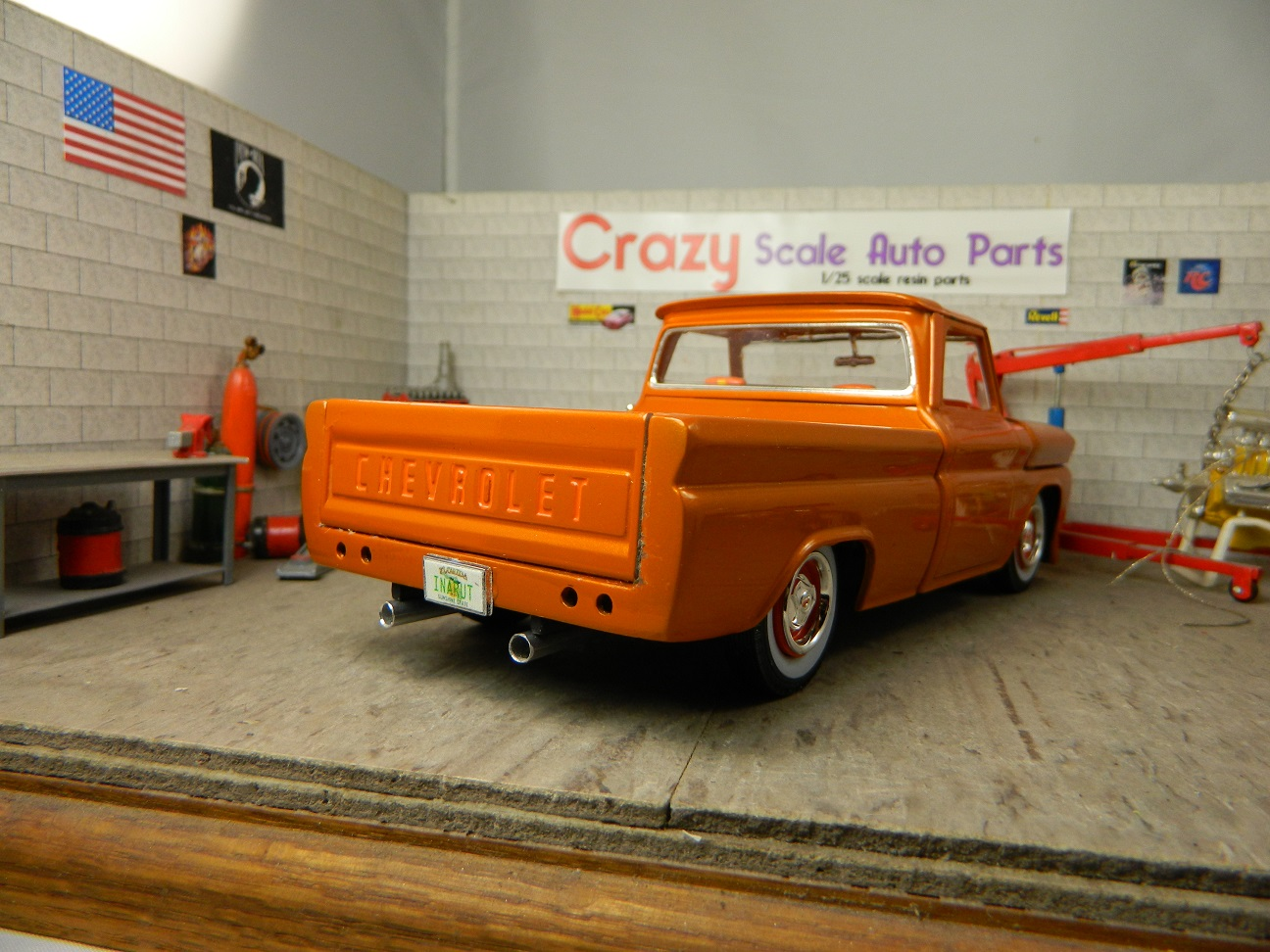 Review 1966 Chevy Fleetside Pickup Ipms Usa Reviews C10 Door Panels Finished Model