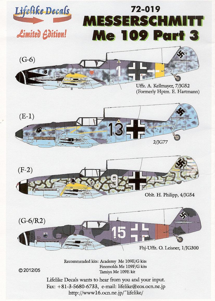 Review Messerschmitt Me109 Part 3 Ipms Usa Reviews