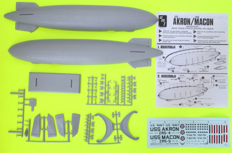 Review USS Akron or Macon LTA Aircraft Carrier IPMS USA