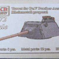 Turret for Pz.V Panther Ausf.F Rheinmetall proposal